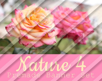 "Banner Set - Shop banner set - Premade Banner Set - Graphic Banners - Facebook Cover - Avatars - Bisiness Card - ""Nature 4"""