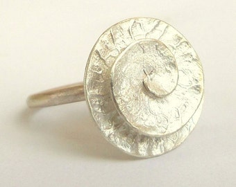 Sterling silver ring - Vortex ring -  Seeds Collection - Free Shipping!!