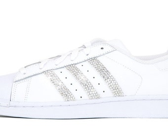 Adidas Superstar - Crystallized Swarovski Swoosh - Triple White