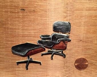 eames lounge chair pinbrooch