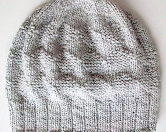 Diamond Knitting Pattern Easy Slouchy Hat