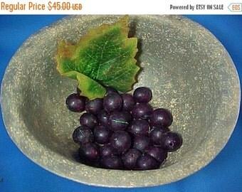 SALE Antique Victorian Wax Fruit, Miniatures, Loose Grapes, Primitive Bowl Filler