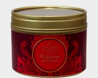 Red Forest scented berry & clove candle in own travel tin