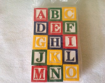 "Large 1  1/8"" Alphabet Blocks"