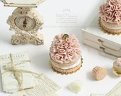 RESERVED for Pamela- Gorgeous Strawberry Ruffle Naked Cake in Dollhouse Miniature Cake 1:12th