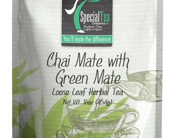 16 oz. Chai Mate with Green Mate Loose Tea with Free Tea Infuser