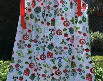 Girl's Christmas Handmade Dress sizes 3 and 4