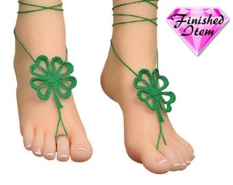 Barefoot sandals   barefoot sandle   LUCKY CLOVER   Forest Green