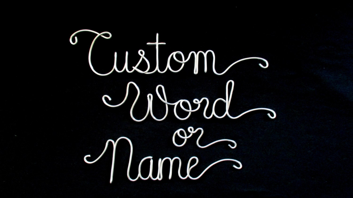 Personalized name ornaments - Custom Wire Name Custom Word Wire Name Personalized Name Custom Name