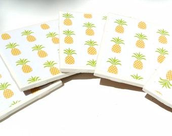 Set of 5 Pineapple Coasters