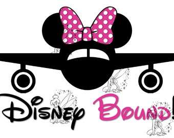 Disney Bound - DIY Iron On Transfer - Minnie (Hot Pink)