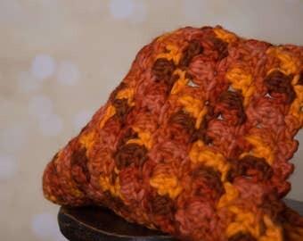 Orange/brown mini blanket