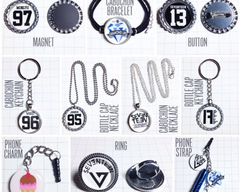 17 Seventeen Necklace / Bracelet / Ring / Keychain / Magnet / Button / Phone Strap / Phone Charm