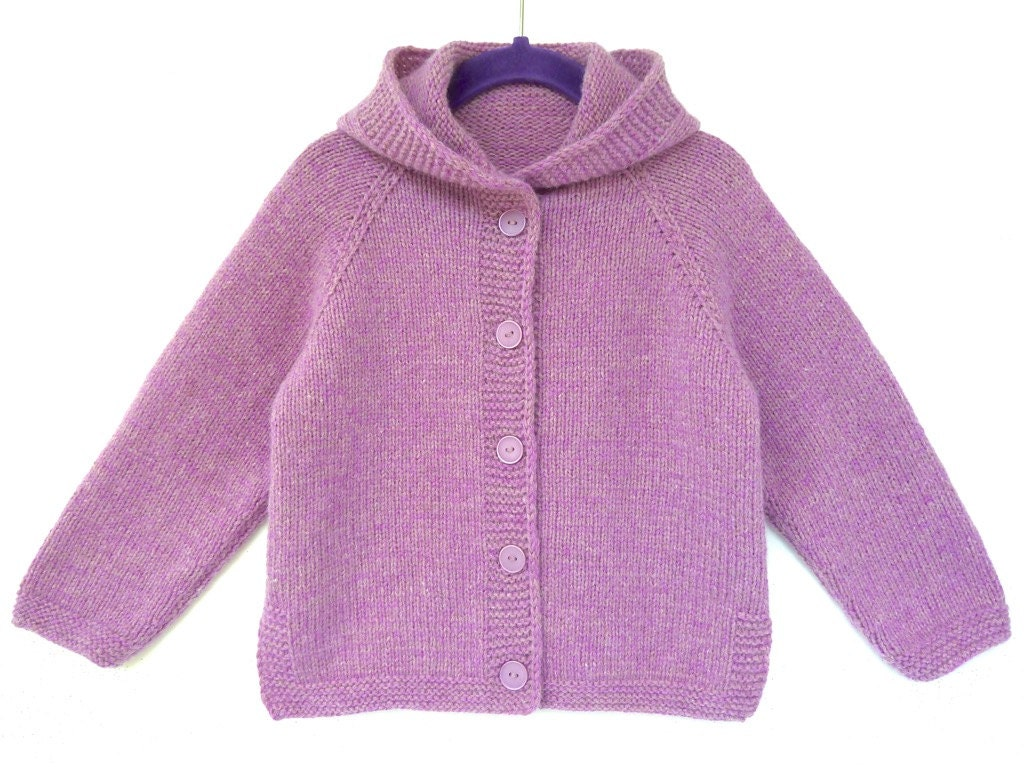 Hand knitted baby clothes girl baby cardigan hoo knit