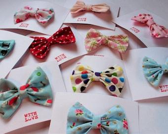 Fabric hair bow, hair clips, hair accessory, girls hair bow, cute hair bows, single hair bow.