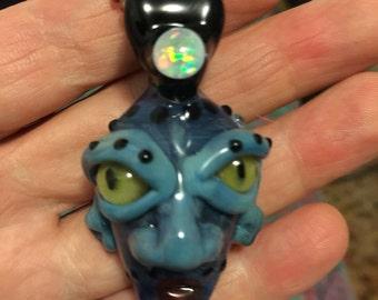 Blue Genie with White Opal!