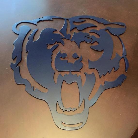 Chicago Bears Man Cave Signs : Chicago bears metal art wall decor sign mancanve cnc man cave