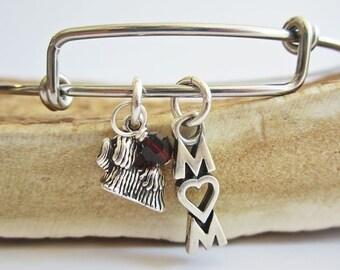 "Maltese Mom Stackable Bangle Bracelet (2.5""-3"")"