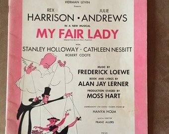 Vintage My Fair Lady Sheet Music of vocal selections