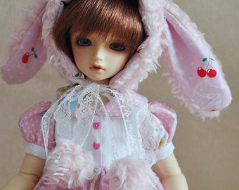 Bunny hat for BJD SD MSD size
