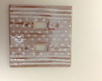 Distressed cottage look double switch