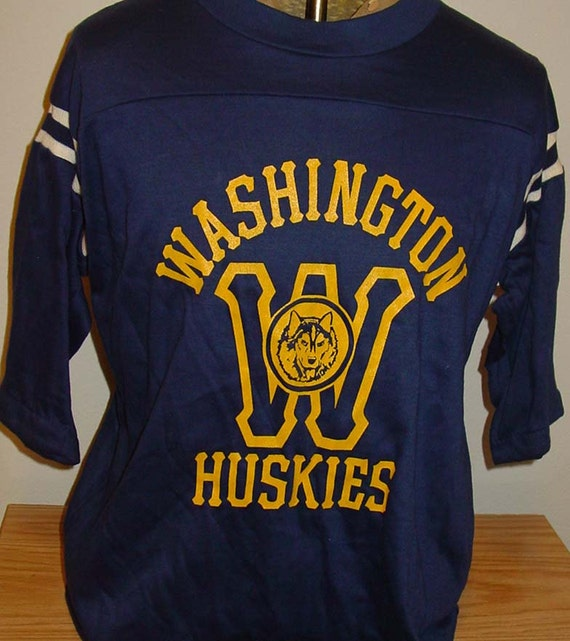 Vintage 1980s University Of Washington Uw Huskies Husky Jersey