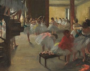 """Edgar Degas : """"The Dance Class"""" (c. 1873) - Giclee Fine Art Print"""