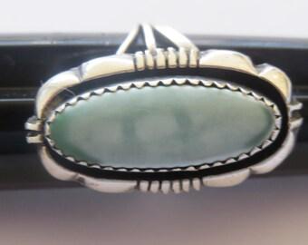 Vintage Navajo Leo Yazzie Sterling Silver Gemstone Ring