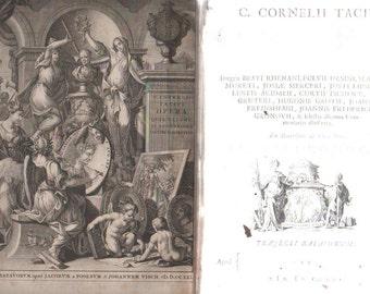 Very rare Tacitus  OPERA quae exstant , Historiarum  De moribus Germanorum  2 vol.    1721