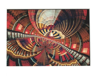 """Fine art print by C. Ursitti fractal abstract 7"""" x 10"""" matted to 11"""" x 14"""" (#9)"""