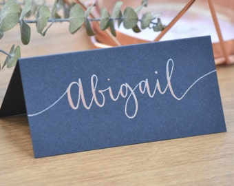 Wedding Place Card / Seating Card / Name Card - Hand Lettered, Handwritten Calligraphy