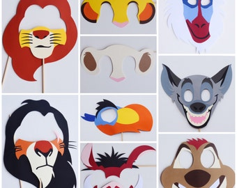 Disney Lion King Photo Booth Props ; Lion King Birthday Party ; Jungle Birthday Party Birthday Decoration ; Disney Party Decor