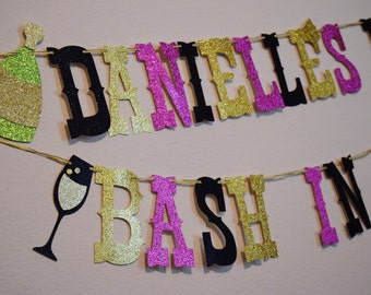 Nashville Bachelorette Banner ; Nash Bash Champagne Banner ; Bachelorette Party Banner ; Bridal Shower Decor ; Pop Champagne