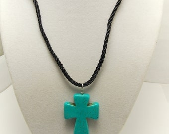 Necklaces for Women, Turquoise, Cross Necklace, gift
