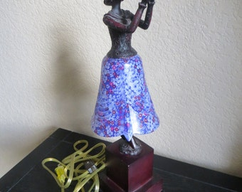 Vintage Art Deco Style FIGURAL WOMAN Night LAMP or Decor Lamp