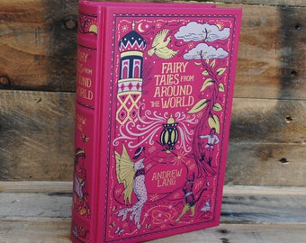 Book Safe - Fairy Tales From Around The World - Leather Bound Hollow Book Safe