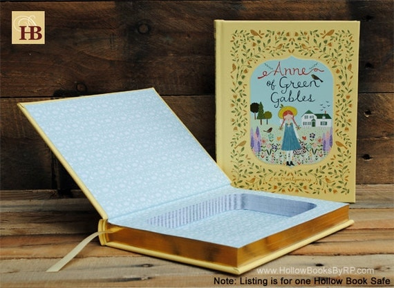 Hollow Book Safe - Anne of Green Gables - Yellow Leather Bound