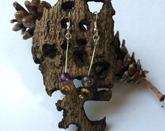 Earrings hanging earrings with semi-precious stone, agate, labradorite, Pearl, Amethyst, Jasper, Carnelian, Tiger eye