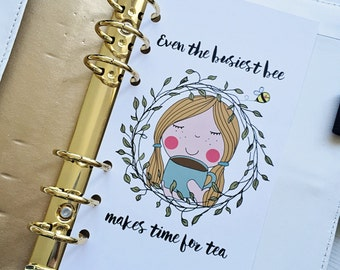 Busy Bee Time for Tea {A5} Dashboard