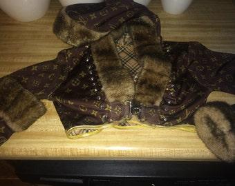 Louis vuitton LV inspired balero xs /s hooded jacket make offer !!