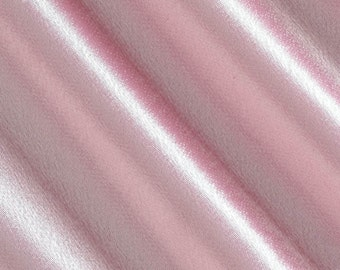 Crepe Back Pink Satin Fabric - Sold By The Yard