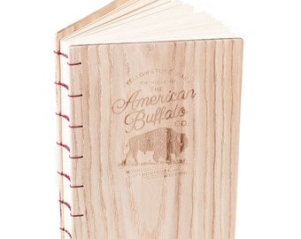 """Wooden Handcrafted Coptic Journal """"Buffalo"""""""