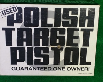 Vintage Adult Novelty Polish Target Pistol - Solitaire 37 5/8 CAL Hewmar Products with Original Box Breweriana