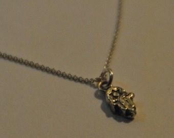 Sterling Silver Hamsa Charm Necklace - Silver Necklace, Layering Necklace, Hamsa Necklace, Charm Necklace