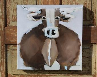 12x12 Acrylic on Canvas: MOOOOOvie Star