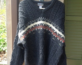 EMS 100% wool sweater mens size lg
