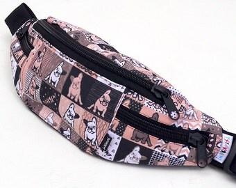 Fanny Pack Frenchie Melancholy, Bum Bag French Bulldog Hip bag Psiakrew