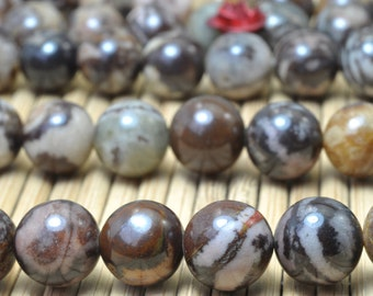 47 pcs of Outback Jasper smooth Round beads in 8mm