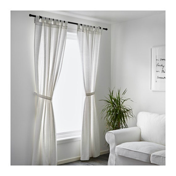set of 2 white cotton curtains 52 39 39 white cotton by thenewhome