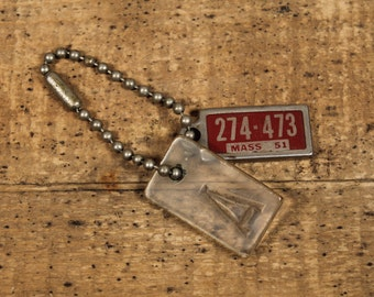 1950s License Plate Keychain